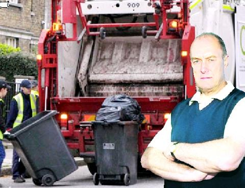 BIN JOB MP Gordon Birtwistle set for a shift with refuse collectors