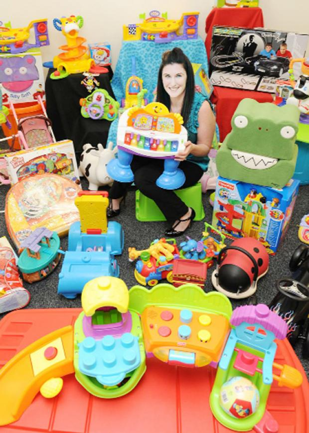 Alison Chesworth with toys for hire