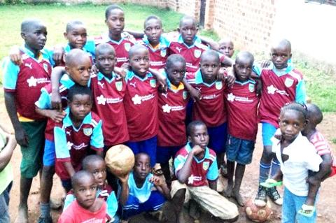 Clarets kits a massive hit with Ugandan kids