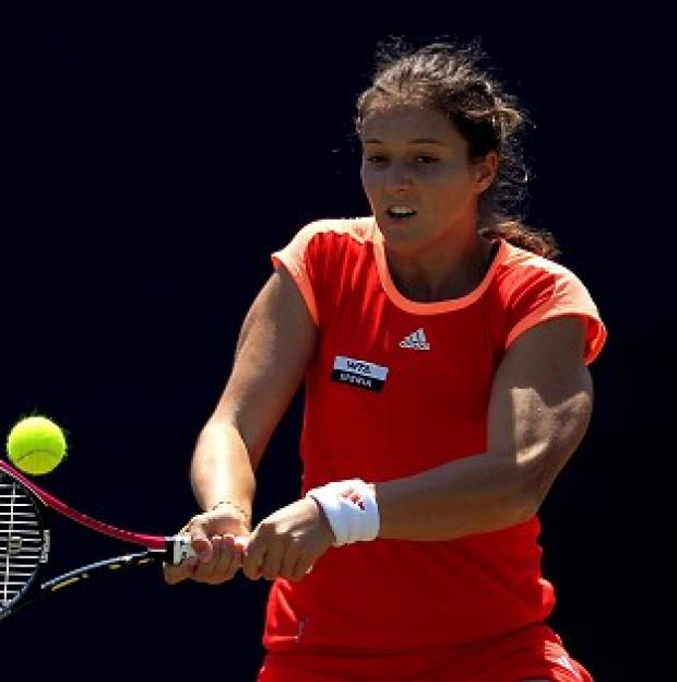 Laura Robson, pictured, suffered defeat to Lourdes Dominguez Lino at the China Open