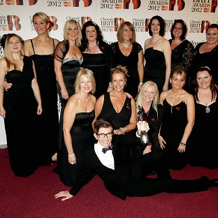 Gareth Malone and the Military Wives at the the 2012 Classic Brit Awards at the Royal Albert Hall