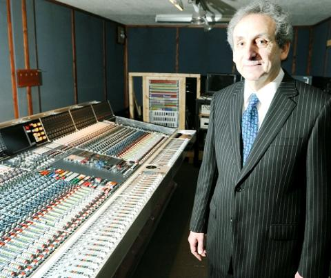 AMS Neve founder Mark Crabtree at the mixing desk,
