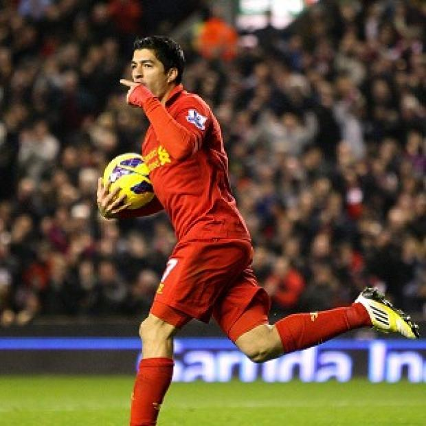 Burnley and Pendle Citizen: Luis Suarez scored Liverpool's equaliser midway through the second half