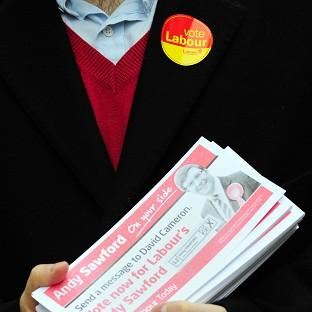 Labour has had a solid poll lead in the Corby by-election, which was caused by the resignation of Tory MP Louise Mensch
