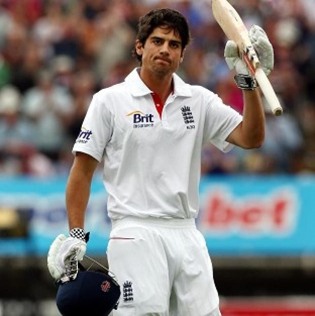 Alastair Cook was finally out for 176 on the final morning of the first Test