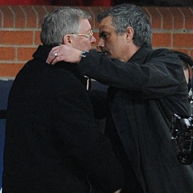 Burnley and Pendle Citizen: Sir Alex Ferguson, left, has hailed Jose Mourinho's, right, managerial record