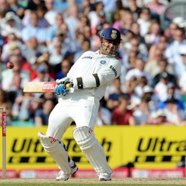 Virender Sehwag is leading the Indian fightback at Eden Gardens