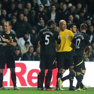Sebastien Bassong reported an incident of racist abuse to referee Howard Webb