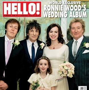 Ronnie Wood chose his two best men because 'they have always been very supportive of me and Sally' (Hello/PA)