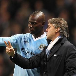 Burnley and Pendle Citizen: Roberto Mancini, right, and Mario Balotelli, left, were involved in a training ground confrontation