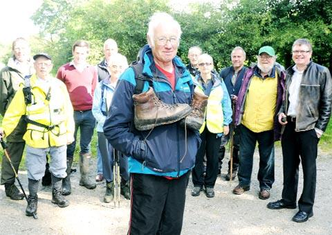 POPULAR ATTRACTION Flashback to last Augusts's Pendle Walking Festival with John Belbin, a walk leader, and other walkers, councillors and festival orgainsers at Pendle Heritage Centre, Barrowford