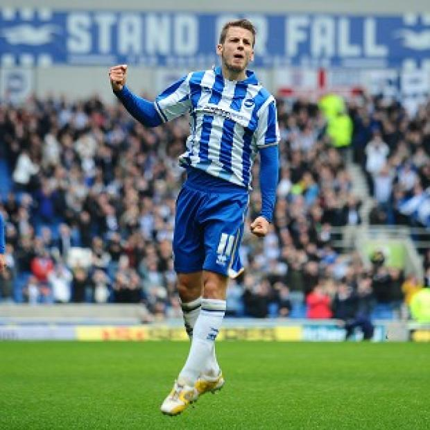 Andrea Orlandi was on target with Brighton's opener in their victory over Newcastle
