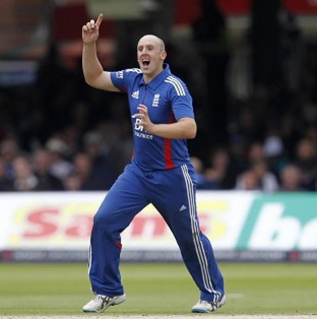 Burnley and Pendle Citizen: James Tredwell, pictured, removed opener Ajinkya Rahane