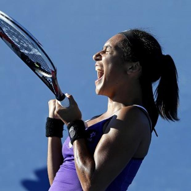 Heather Watson crashed out of the women's doubles at the first-round stage (AP)