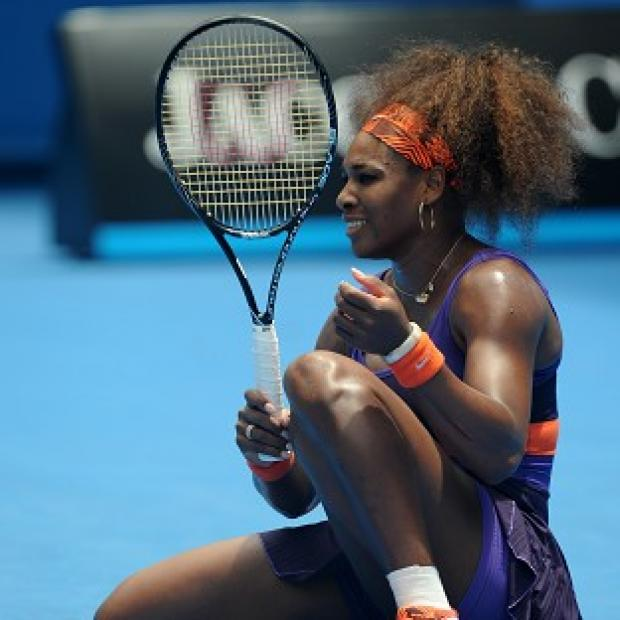 Serena Williams, pictured, put her injury problems to one side to beat Garbine Muguruza (AP)