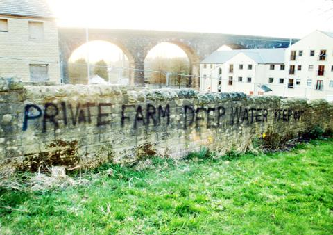 Writing on the wall for Colne landowner