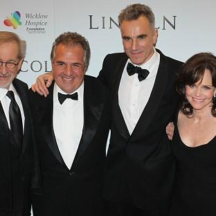 Steven Spielberg, Jim Gianopulos, Daniel Day-Lewis and Sally Field at the Savoy cinema in Dublin, for the European premiere of Lincoln