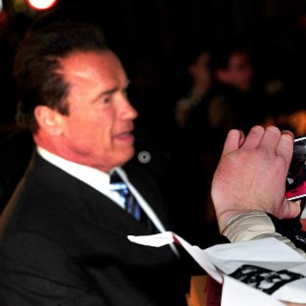 Arnold Schwarzenegger arrives at the UK premiere of new film The Last Stand