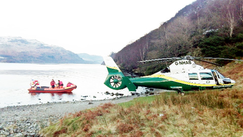 RESCUE A rambler from Burnley was taken to hospital by air ambulance after having an epileptic fit near Ullswater