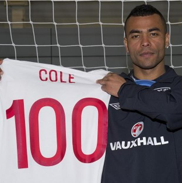 Ashley Cole will make his 100th England appearance on Wednesday night