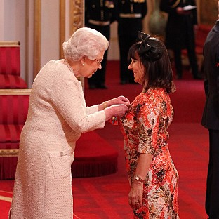 Arlene Phillips received a CBE from the Queen