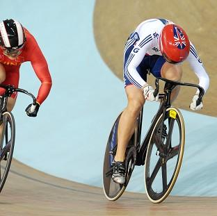 Becky James, right, is into the women's sprint final in Minsk