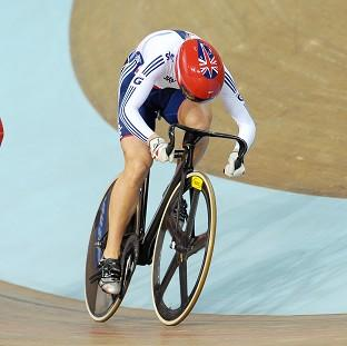 Becky James, left, has kept the women's sprint title in Great Britain
