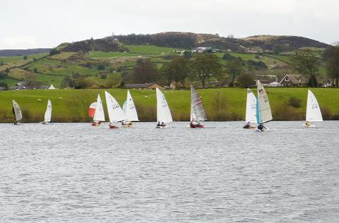 Sailors at Burwain Sailing Club