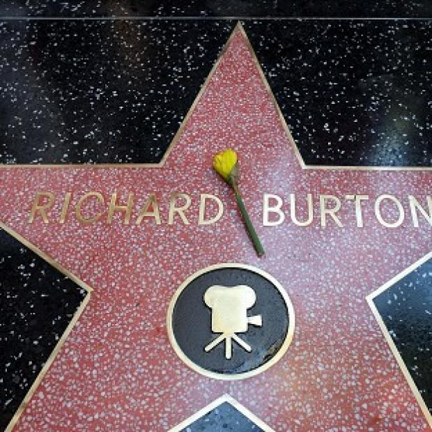 The late Richard Burton is honoured with a star on the Hollywood Walk of Fame