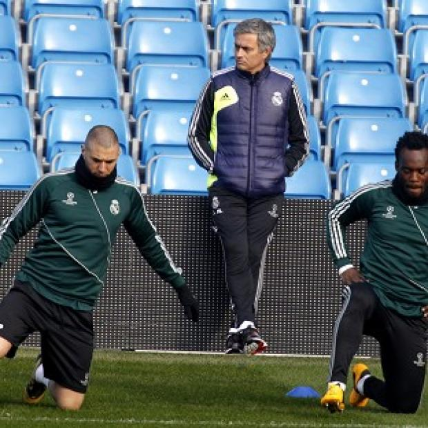 Madrid boss Jose Mourinho, centre, insists 'the world will stop' to watch Tuesday's game