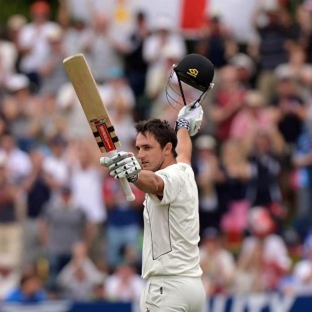 New Zealand's Hamish Rutherford scores 100 on his test match debut
