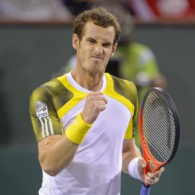 Andy Murray, pictured, set up a fourth-round clash with Carlos Berlocq at the BNP Paribas Open (AP)