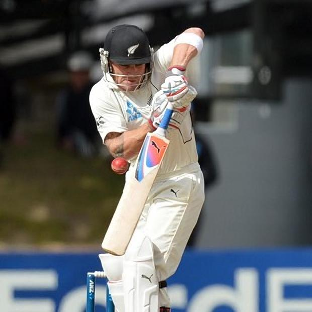Brendon McCullum had a half-century at lunch on day three