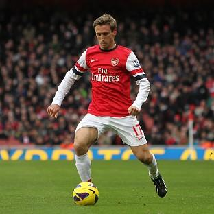 Nacho Monreal netted his first goal for Arsenal in the victory at Swansea