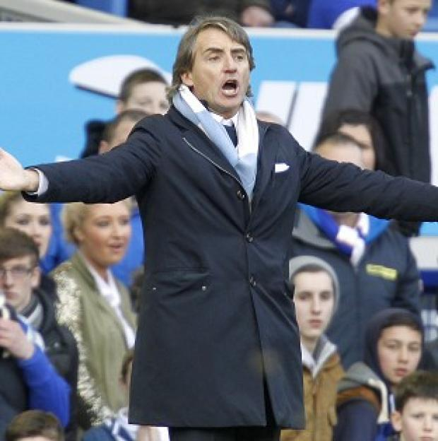 Roberto Mancini did not appear for post-match interviews following the defeat at Everton