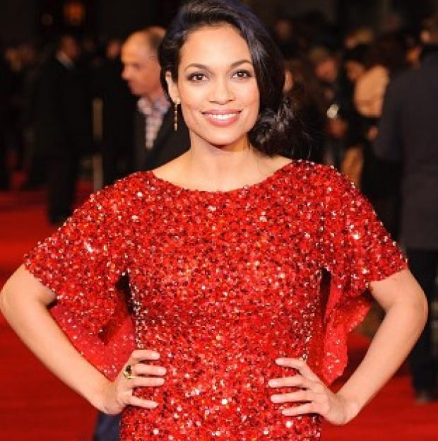 Rosario Dawson arriving at the World Premiere of Trance, at the Odeon West End, in Leicester Square