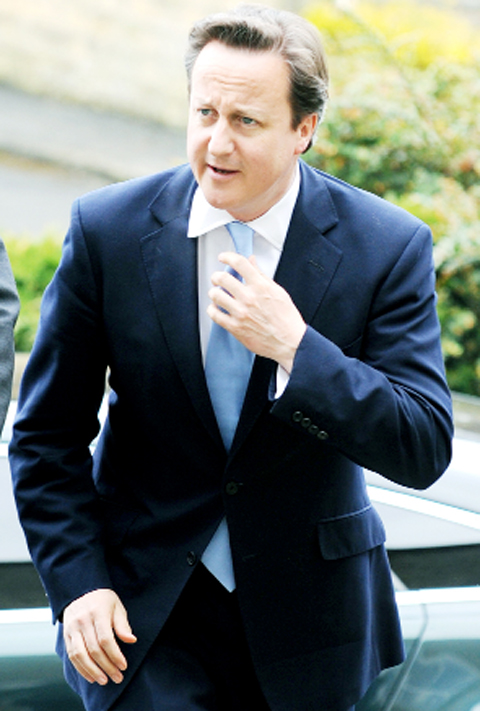 PM Cameron quizzed over his sleeping arrangements in Barnoldswick