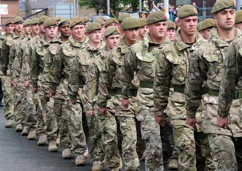 Gallery & video: Crowds welcome the Duke of Lancaster's Regiment to Burnley