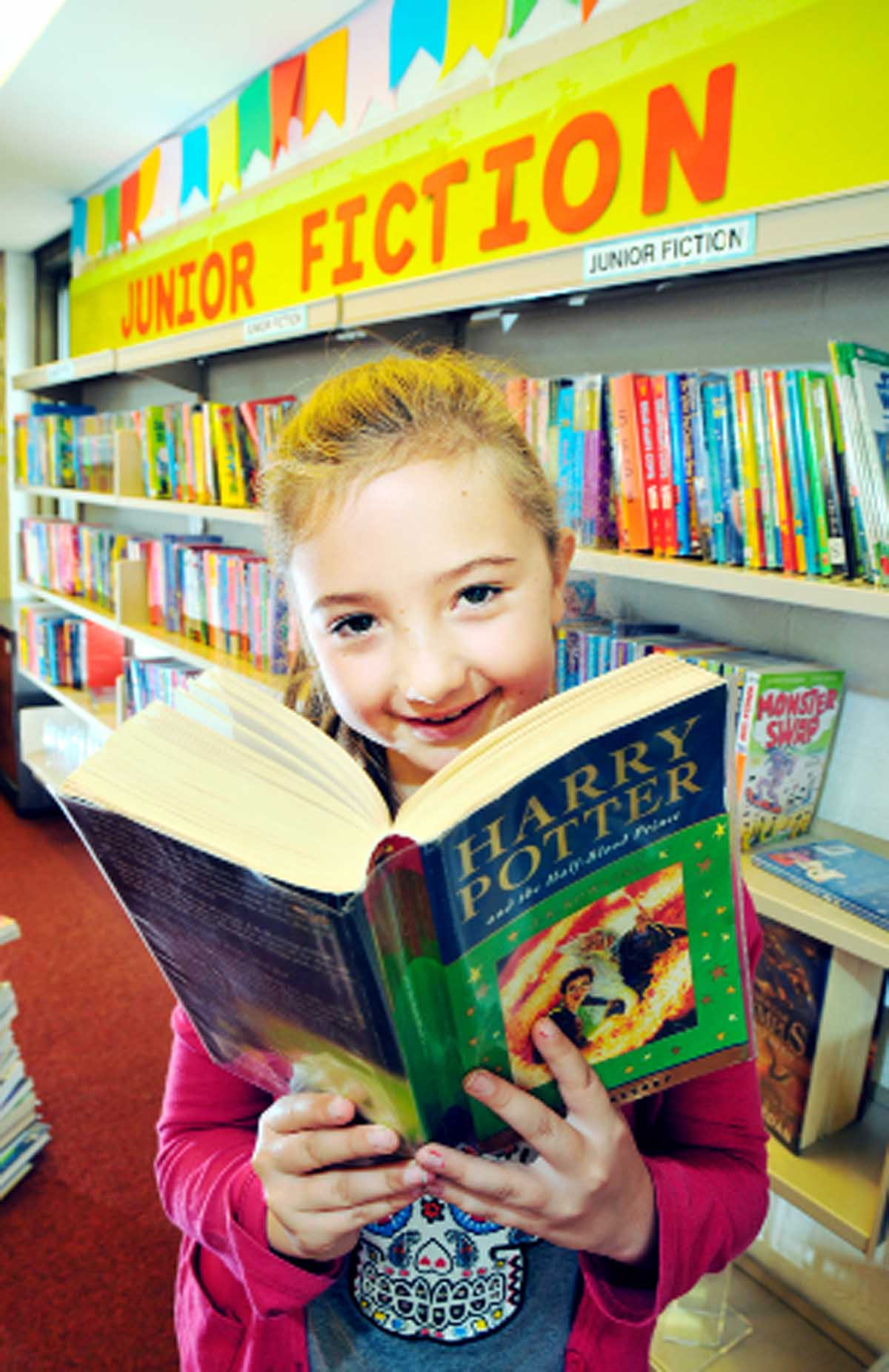 Ciara Hatch, 10, of Oswaldtwistle, enjoys a Harry Potter adventure