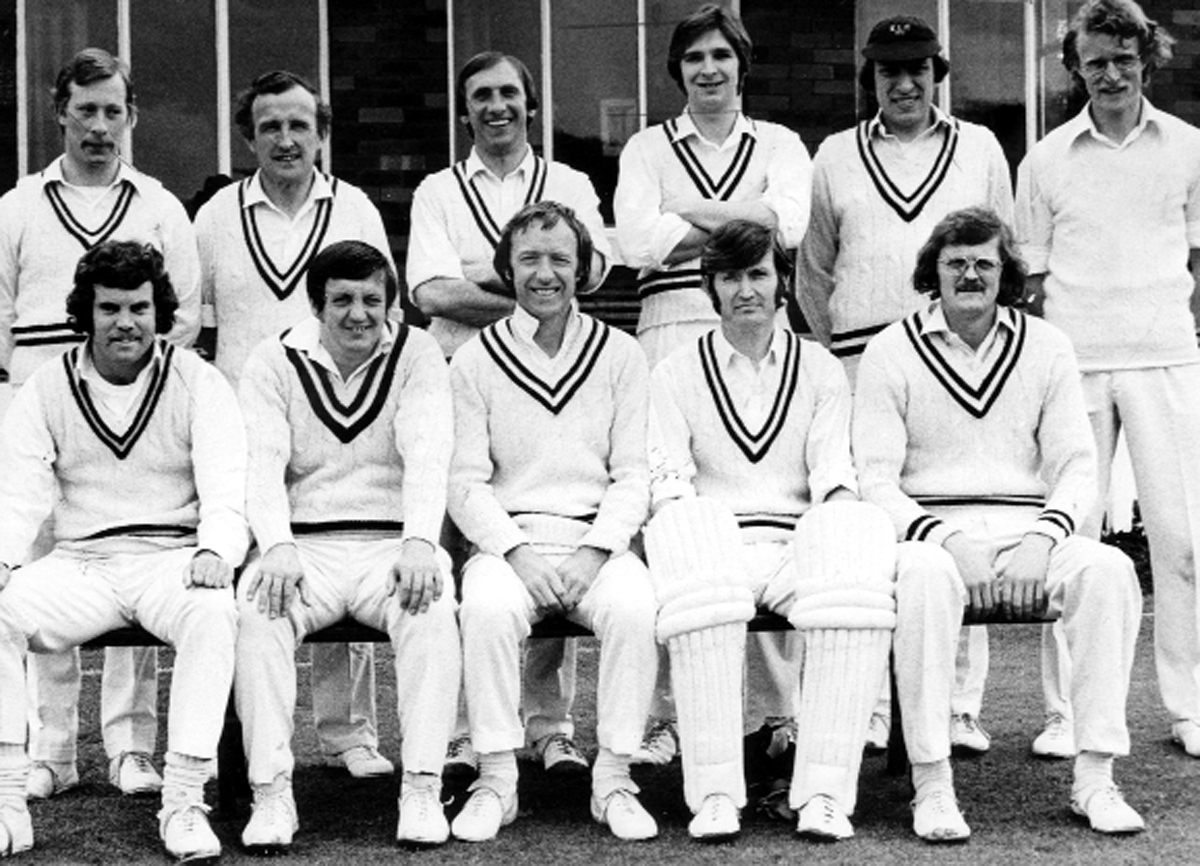 Skipper Brian Ratcliffe, front centre, with his team 1970s, back from left, Wayne Cooper, Brian Bowling, David Adams, Derek Hollinrake, Roger Thorp, and front, Trevor Chappell (pro), Jim Kenyon, Roy Kelly and George Baron