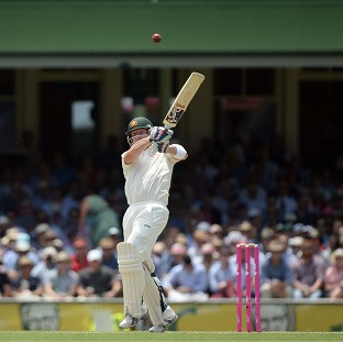 Brad Haddin sends another shot to the rope