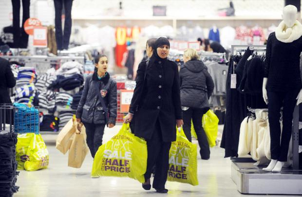 Sales drew shoppers in at The