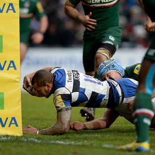 Jonathan Joseph dives in to score a try