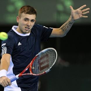 Dan Evans won through to the next round of qualifying in Melbourne