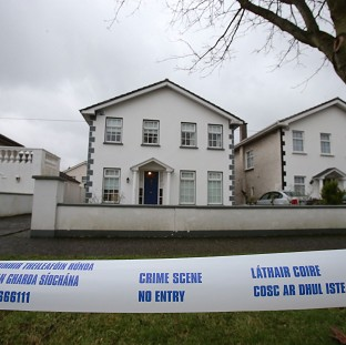 The scene at Beech Park Avenue, Castleknock, north Dublin, after the remains of a 39-year-old man were found in a house