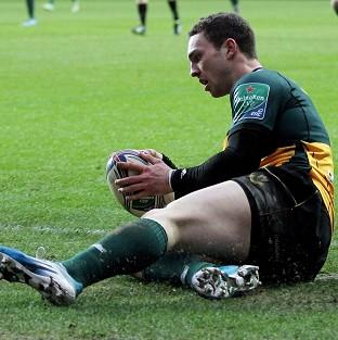 George North ran in the first try for Northampton