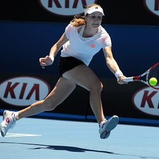 Ekaterina Makarova, pictured, got the better of Venus Williams in Melbourne, winning 2-6 6-4 6-4 (AP)