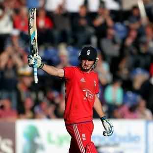 Jos Buttler, pictured, top-scored with 61 for England as they claimed a 172-run win over a Prim