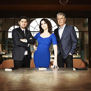 Nigella Lawson stars on The Taste with Ludo Lefebvre (left) and Anthony Bourdain