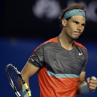 Rafael Nadal, pictured, defeated Thanasi Kokkinakis in straight sets (AP)